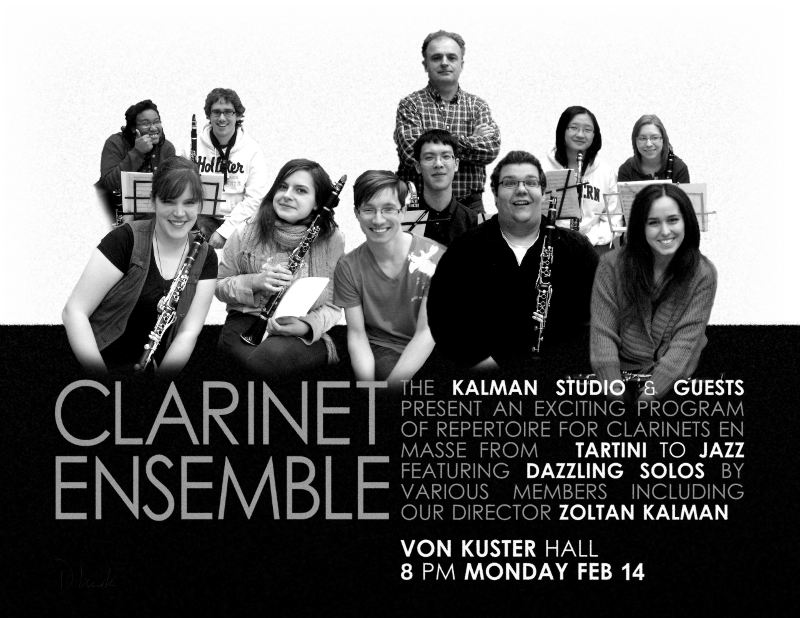 Poster for a clarinet ensemble